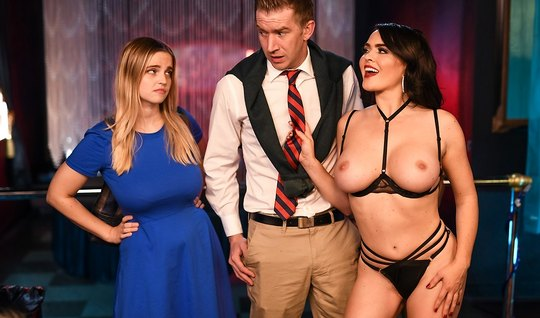 Husband cheating on his wife with a hot brunette stripper