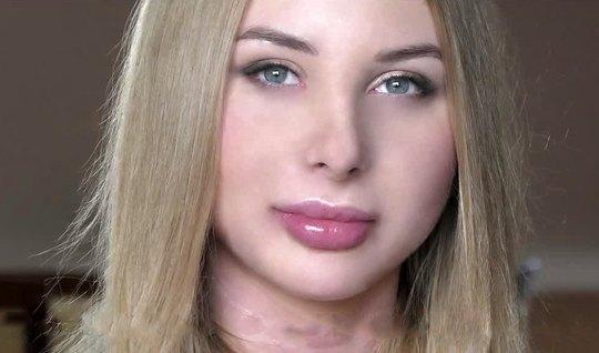 Русская девица на кастинге получает двойное проникновение