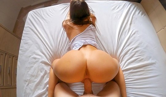 Wife undressed to a goal and making a Blowjob to her husband agreed to homemade porn first person