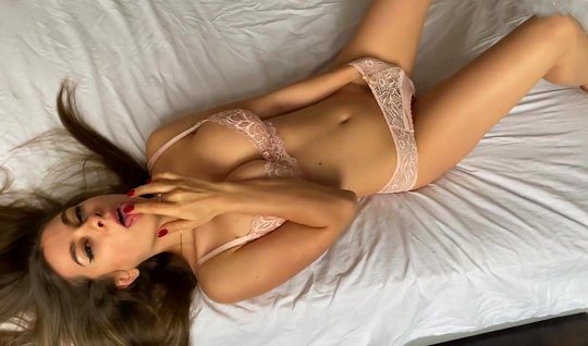Russian couple shoots premium homework in bed and cum at the same time