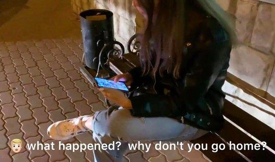Пикапер снял себе русскую девушку и трахает красотку на камеру, заливая спермой