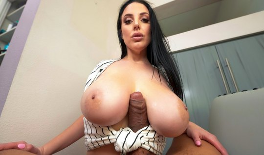 Big Tit Angela Cums While Fan Spanking And Takes Cum