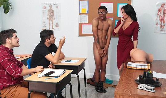 The nurse, the teacher, right in the classroom, showed the black man what sexual desire for a woman is