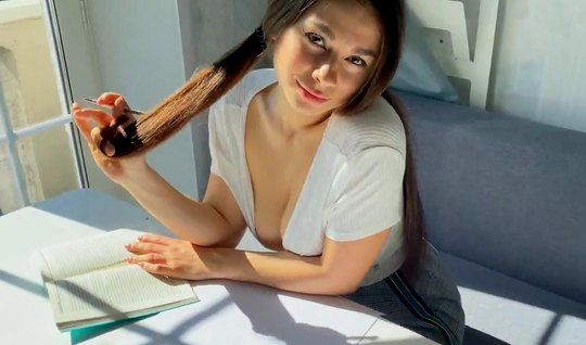 Russian girl in stockings got doggy style for sex in the first person