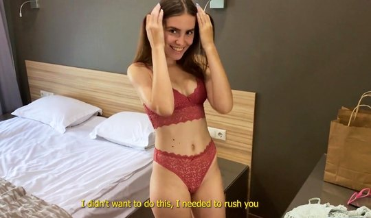 Young girl stripped naked for homemade porn with a fan