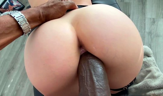 Chick with blue hair and ebony with a big dick make love